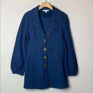Cabi Teal Merino Wool Aristocrat Coat #707